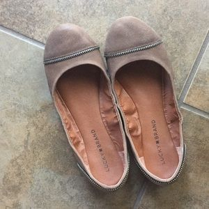Lucky Brand Flats with zipper detail